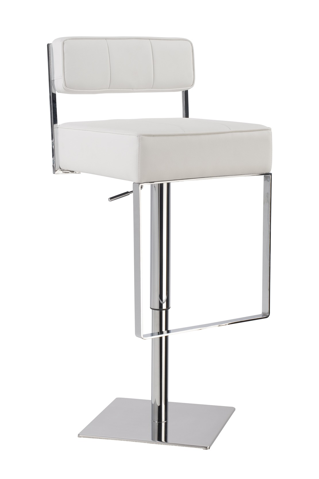 Curved Round Back Bar Stool White
