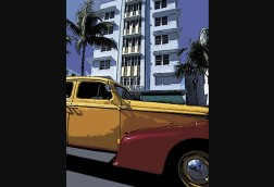 Yellow Ride in Miami
