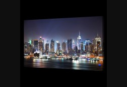 Waterfront NYC Skyline at Night