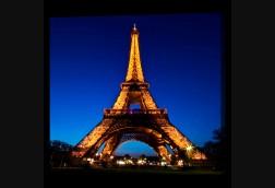 Eiffel Tower Glowing