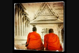 Behind Two Monks