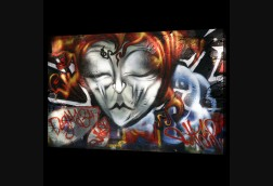 Graffiti Eyes Closed