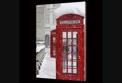 Winter Phone Box in London