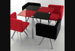 Lombard Black/Red Dinette