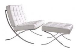 Mid Century Accent Chair & Ottoman